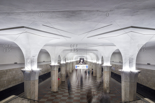 Moscow, Russia - July 24, 2016: Interior of one of the stations of the famous Moscow Metro