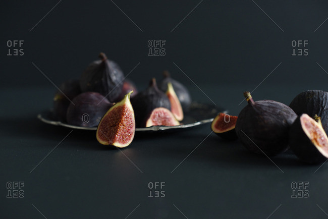 Figs on a silver tray
