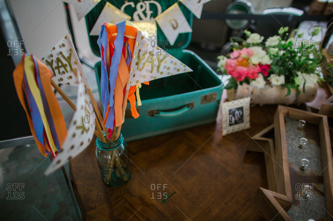 Colorful decorations for a wedding