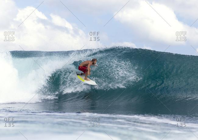 Surfer on a wave