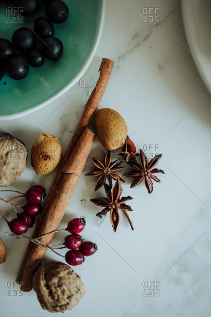 Ingredients for a holiday dessert