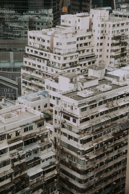 Old buildings in the Causeway Bay area of Hong Kong