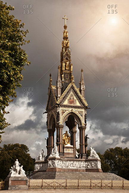 Albert Memorial against cloudy sky