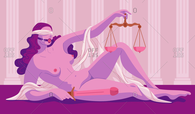Sex-themed lady justice