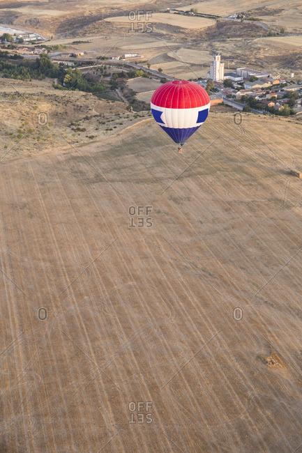 Spain Segovia hot air balloon in the air