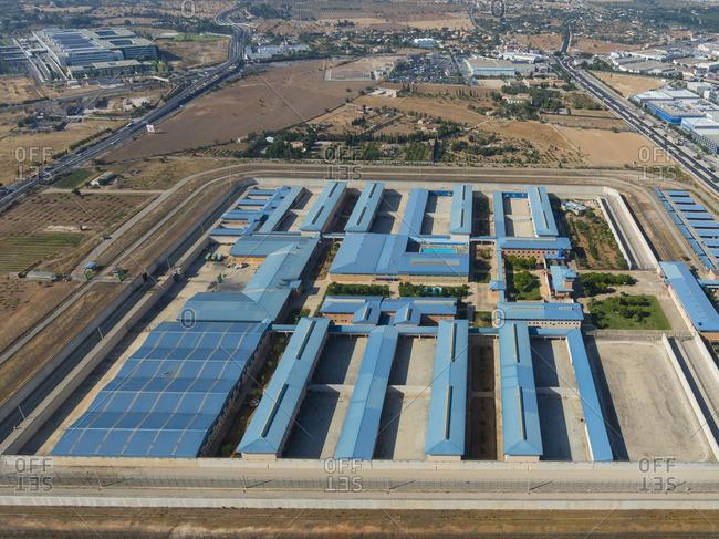 Spain Mallorca Palma de Mallorca Aerial view of prison