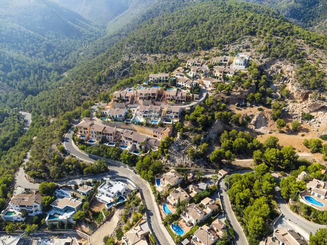 Spain Mallorca Palma de Mallorca Aerial view