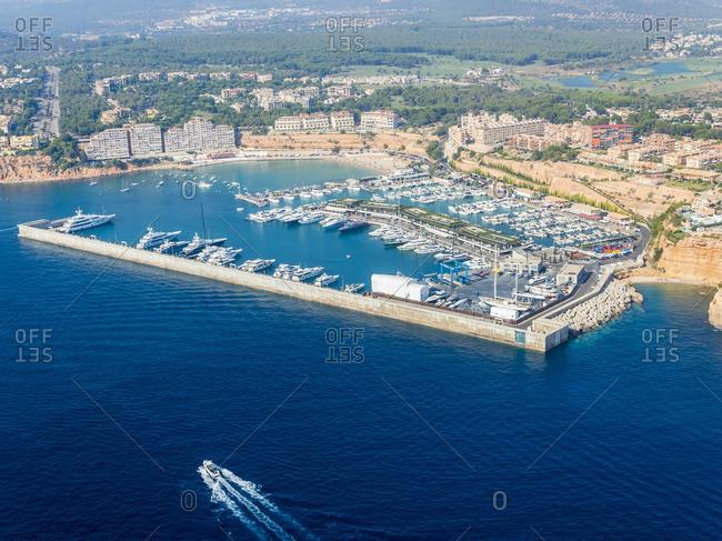 Spain Mallorca Palma de Mallorca Aerial view Marina Port Adriano