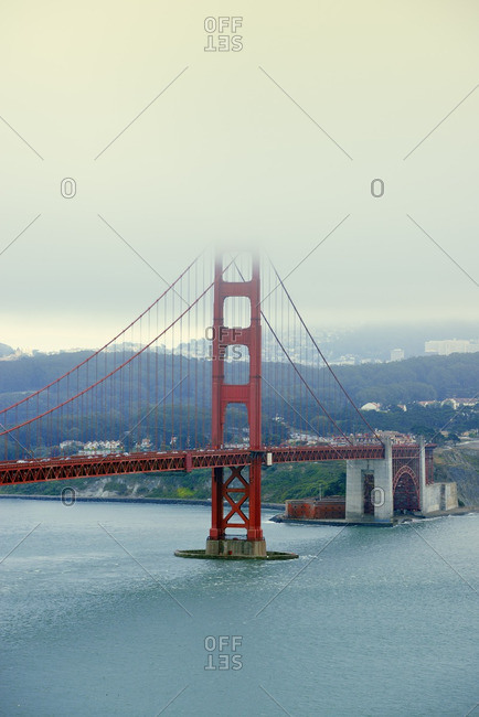 USA California San Francisco Golden Gate Bridge as seen from Golden Gate View Point