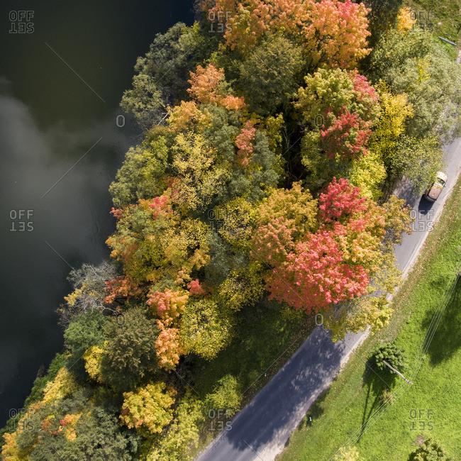 Fall scene in Vilnius, Lithuania