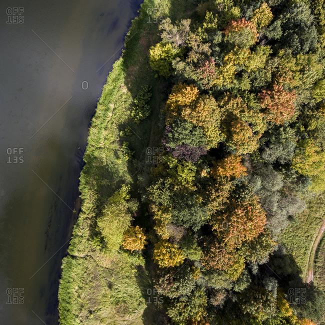 Fall scenic in Vilnius, Lithuania