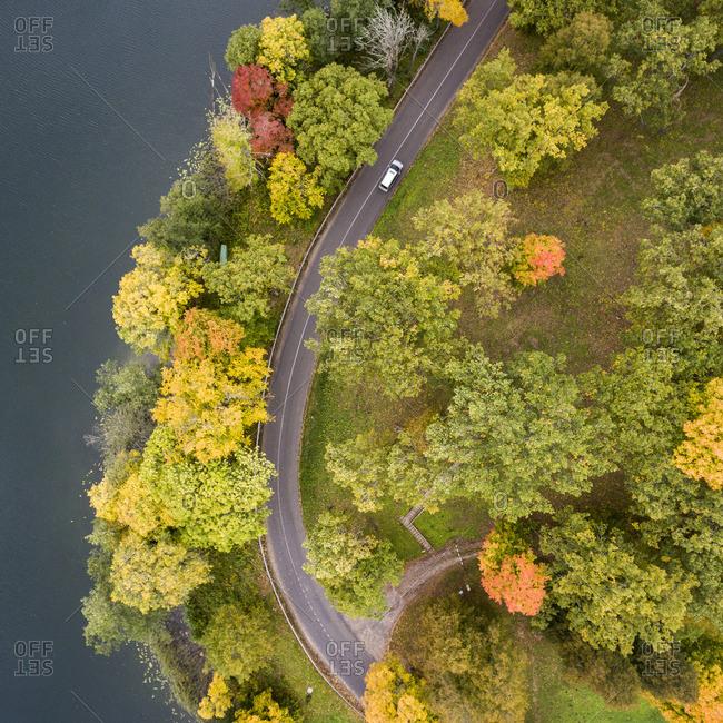 Autumn landscape in Dubingiai, Lithuania