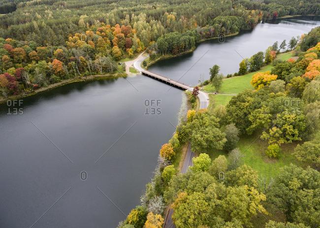 Autumnal landscape in Dubingiai, Lithuania