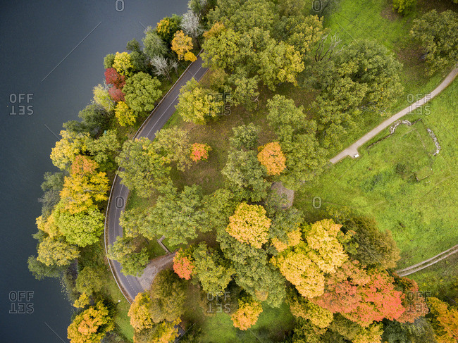 Autumnal scenic in Dubingiai, Lithuania