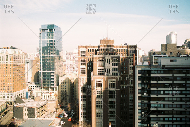 Buildings in a crowded city