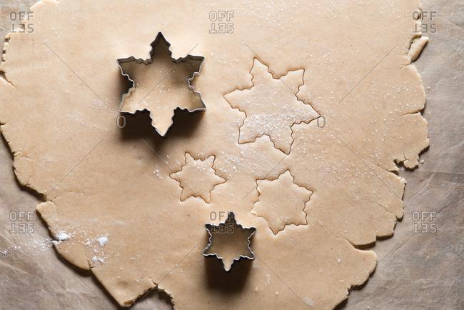 Baking Snowflake Cookies