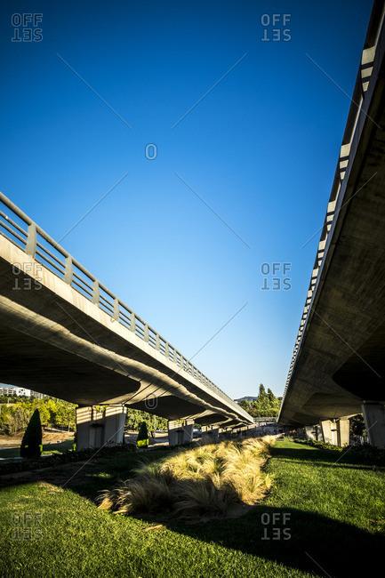 Roadway overpasses in Sant Cugat del Valles, Spain
