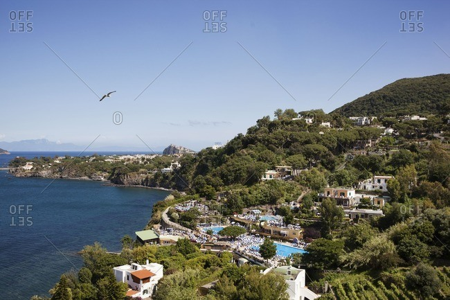 Landscape of the island of Ischia, Naples, Italy