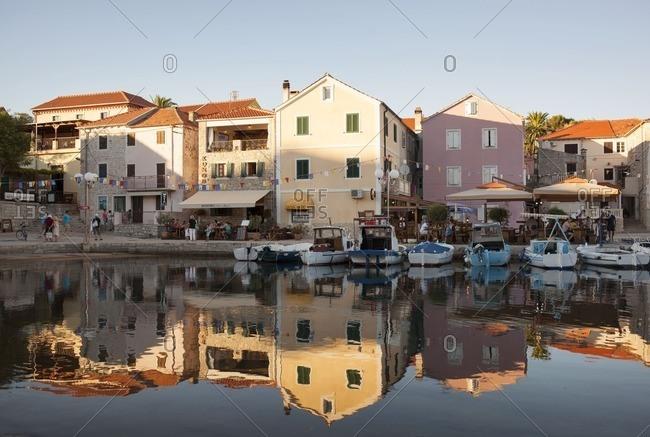 Dugi Otok, Croatia - October 4, 2016: A harbor in Croatia