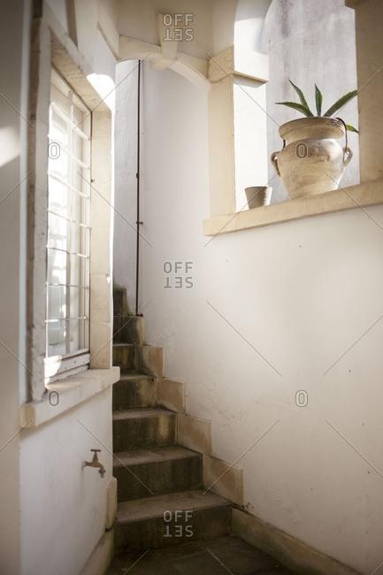 Stairway in an Italian home