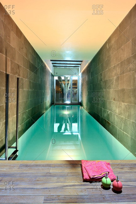 Swimming pool in a modern home