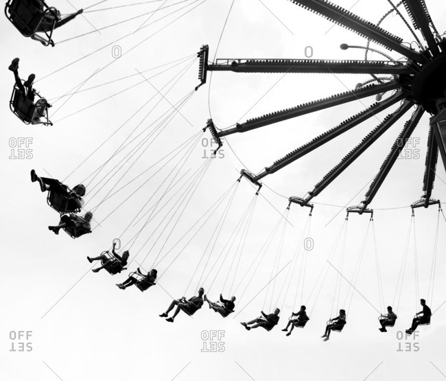 Victoria, British Columbia, Canada - September 5, 2016: A carnival ride in British Columbia