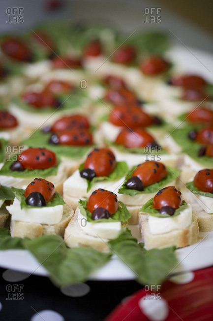 Ladybug shaped snacks