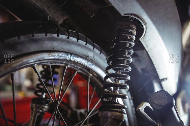 Shock absorber of motorbike