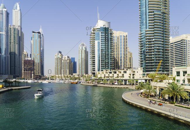 April 10, 2016: Dubai Marina, Dubai, United Arab Emirates. Middle East