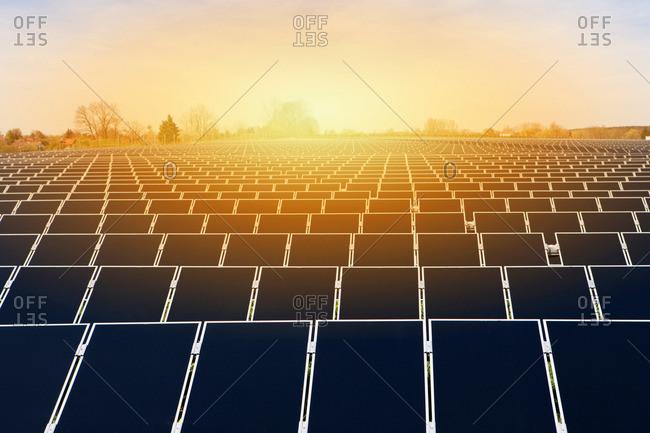 Large solar energy plant