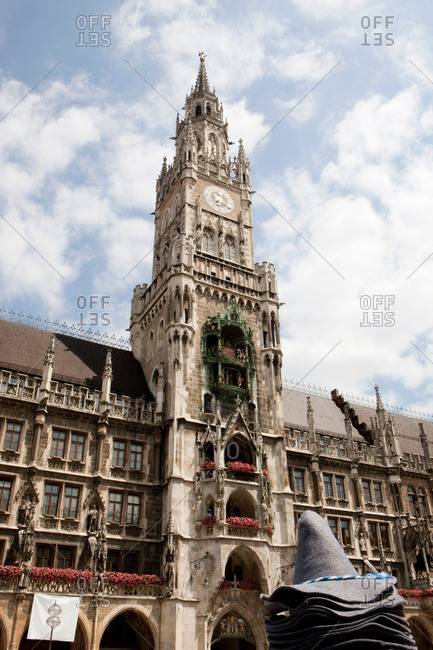 City hall tower on Marienplatz Munich