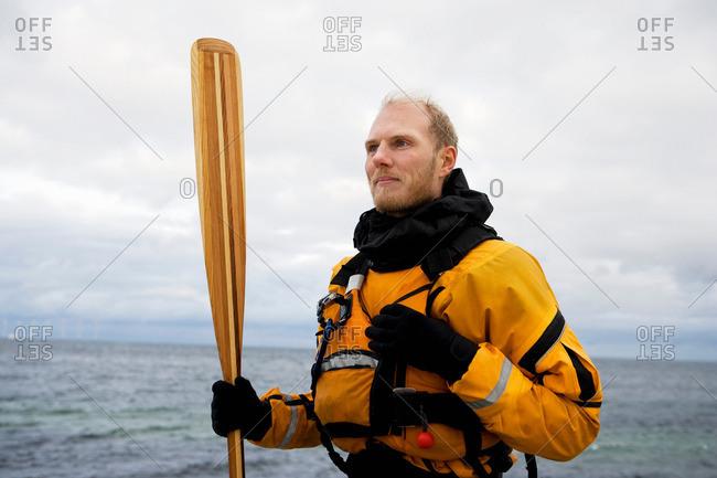 Portrait of kayaker