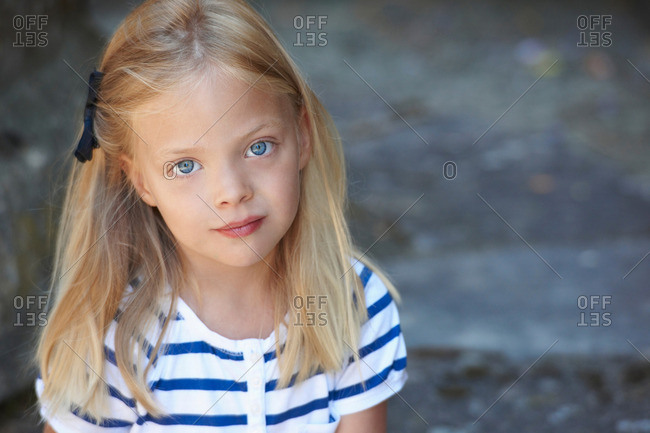Portrait of a six years old girl
