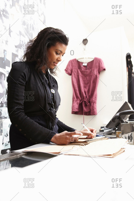 Woman doing accounts - Offset Collection