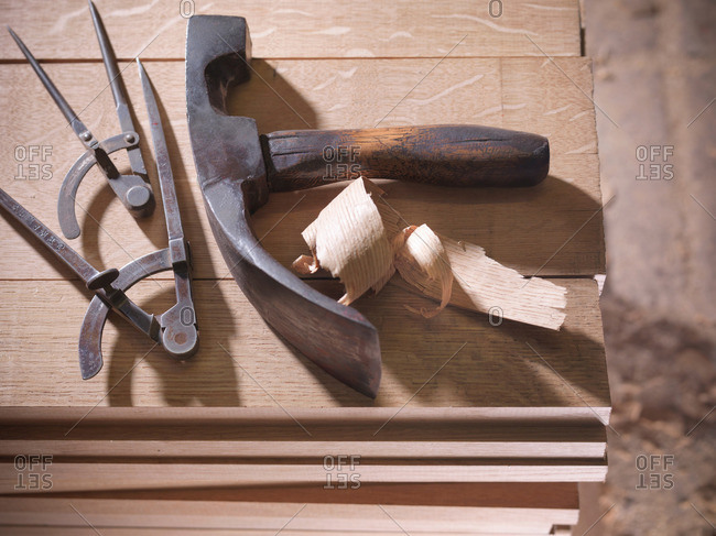 Tools for barrel-making in cooperage