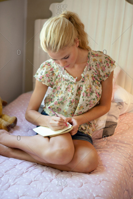 Girl writing diary