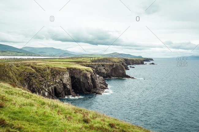 Beautiful oceanfront cliffs in Ireland