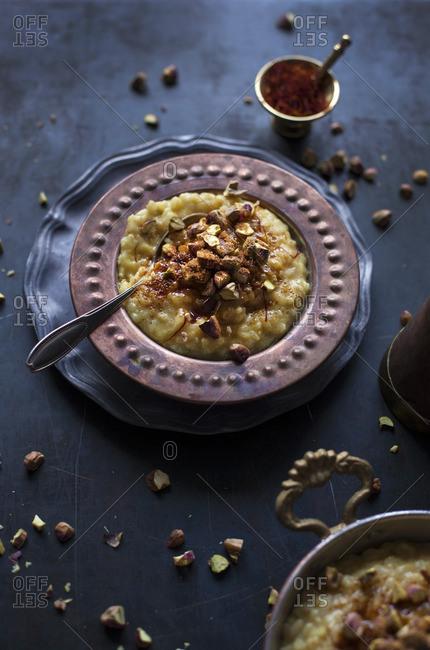 rice pudding stock photos - OFFSET