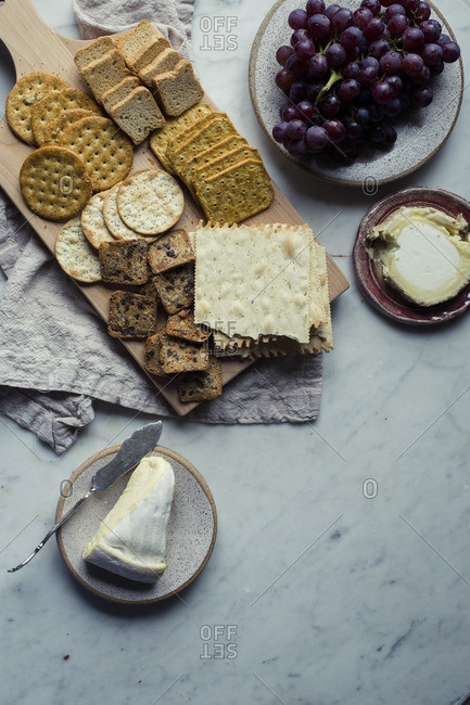 Cheese, grapes and Crackers