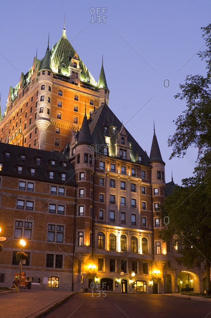 August 27, 2005: Chateau Frontenac Hotel, Quebec City, morning light, Quebec, Canada.