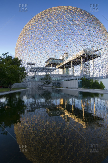 August 22, 2005: Montreal Biosphere, Quebec, a geodesic dome originally built as US pavilion at Expo 67, Montreal, Quebec, Canada.
