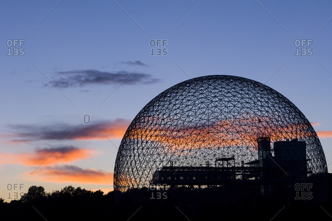 August 22, 2005: Montreal Biosphere a geodesic dome originally built as US pavilion at Expo 67, Montreal, Quebec, Canada.