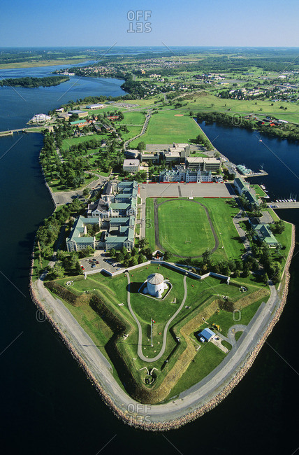 Aerial the Canadian Land Force Command and Staff College, Kingston Ontario, Canada.