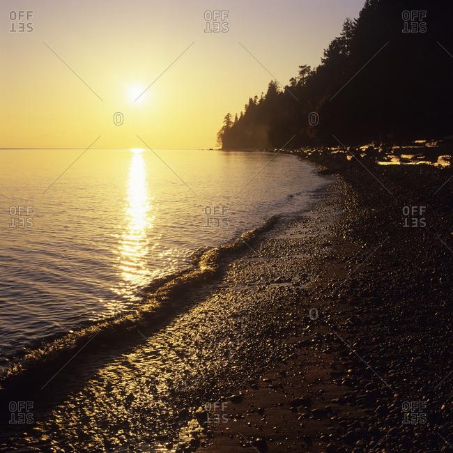 Sunset at Secret Beach, Gibsons, Sunshine Coast, British Columbia, Canada.