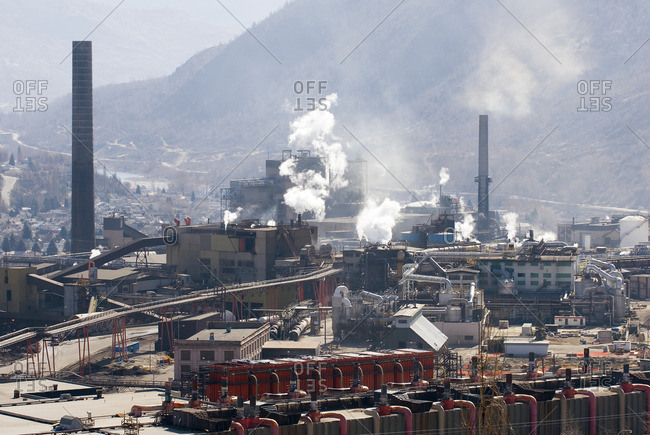 April 7, 2007: The Teck Cominco zinc and lead smelter in Trail, British Columbia, Canada.