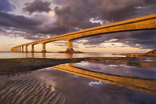 Confederation Bridge, Cape Jourimain, New Brunswick, Canada.