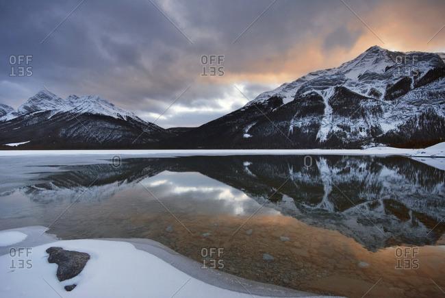 Goat Range and Goat Lake, Spray Valley Provincial Park, Kananaskis Country, Alberta, Canada