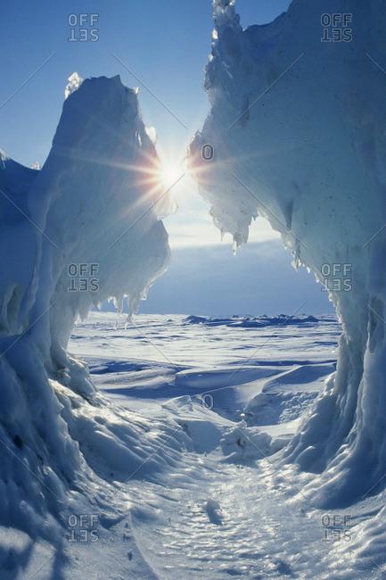 Pack ice, Beaufort Sea, Arctic Canada