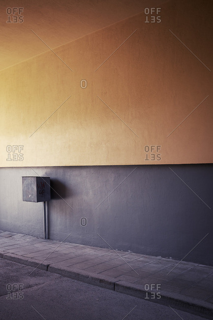 Grey and yellow wall