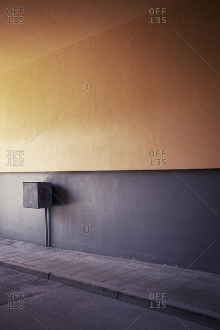 Grey and yellow wall